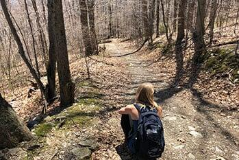 Alexandra Huggins Hiking