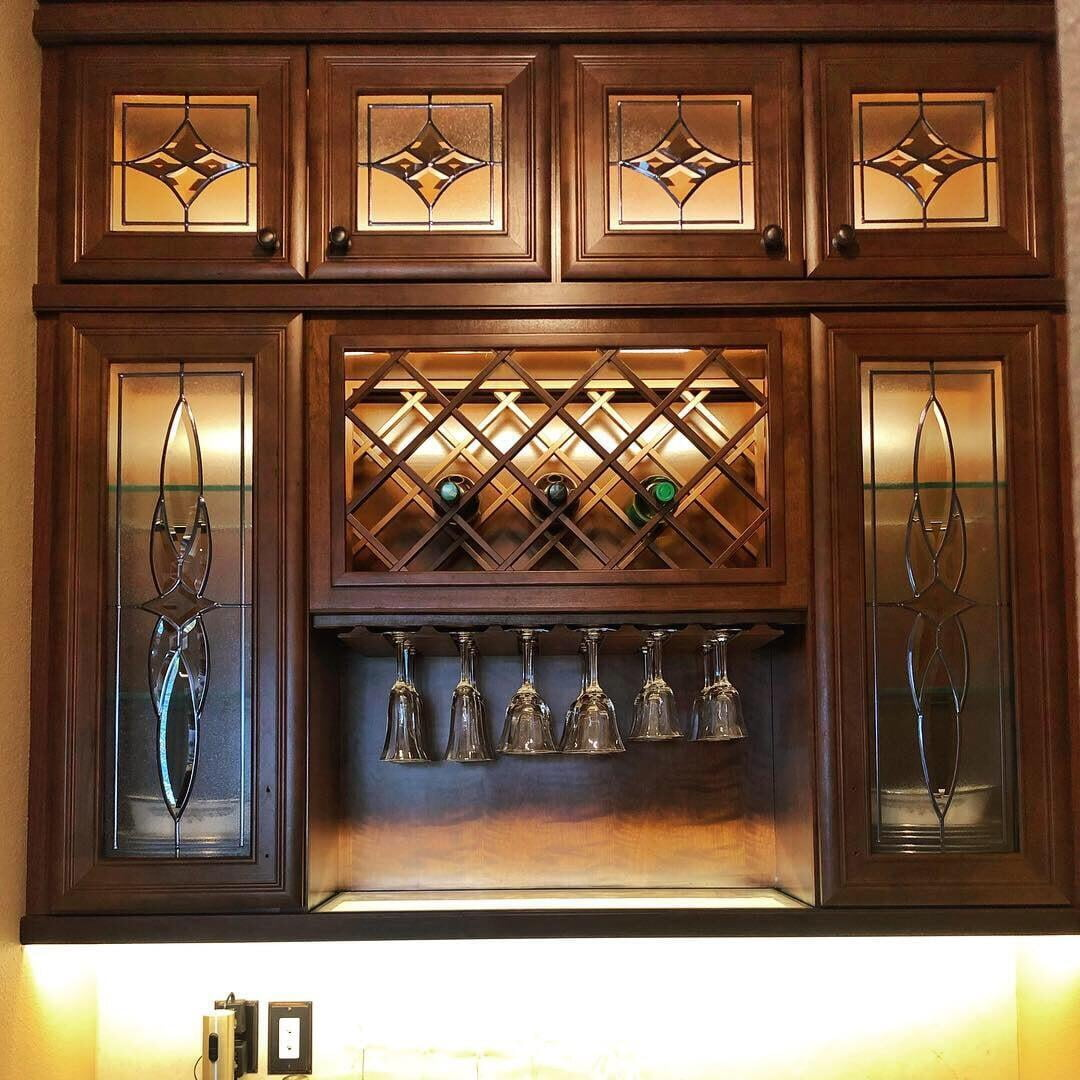Bespoke Leaded Cabinet Glass Alternative Stained Glass Llc Fl